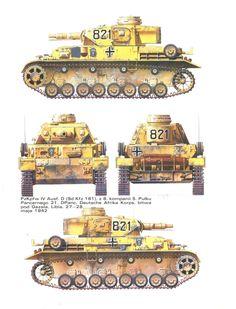 Panzer IV. №-821.Pz.Rgt.5,21.Pz-Division Afrika Korps - 1941-42