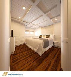 Basement bedroom design inspired by boat stateroom