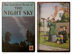 1965 Ladybird The Night Sky Science book, girls and boys learning about Astronomy together