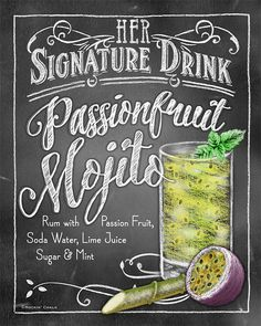 Signature Drink Signs Chalkboard style Prints for by RockinChalk Cocktails, Cocktail Drinks, Cocktail Recipes, Alcoholic Drinks, Beverages, Chalkboard Print, Chalkboard Designs, Chalk It Up, Chalk Board