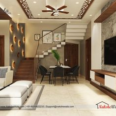 Modern Living Room Interior Designed by Design Hall, Hall Interior Design, Interior Design Minimalist, Home Interior, Interior Design Living Room, Modern Living Room Designs, Pooja Room Design, Design Bedroom, Modern Room