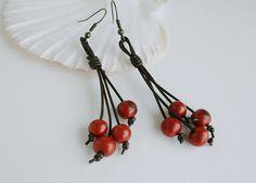 Eco acai earrings, judysdesigns, etsy