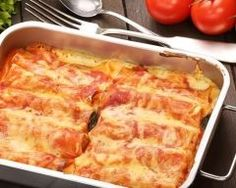 Cannellonis au poulet au four | Cuisine AZ                                                                                                                                                                                 Plus