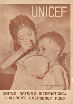 A UNICEF poster circa 1946 #green #sustainability #rmogreen