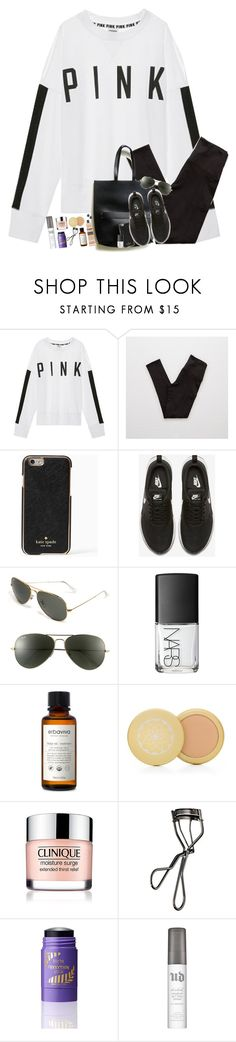 """Shout out to the girls who always smell good"" by teamboby ❤ liked on Polyvore featuring Victoria's Secret, Aerie, Kate Spade, NIKE, Ray-Ban, Erbaviva, Shiseido, tarte, Urban Decay and Kendra Scott"