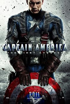 """Captain America"". Movie Poster. Design/Photography by Michael Muller. Portfolio http://www.krop.com/muller"