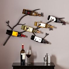 Manchester Wall Mounted Wine Rack Use for bathroom towels http://www.kirklands.com/category/Sales/Kitchen-Dining-SALE/pc/2330/2747.uts