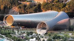 Tbilisi Music Thether and Concert Hall by Fuksas Architecture. These images show the tubular forms of a music theatre and exhibition hall by Studio Fuksas, which is nearing completion in the Georgian capital, Tbilisi.