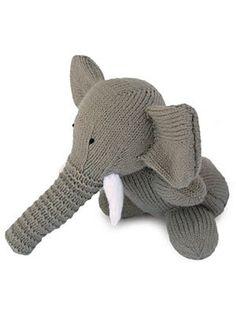 Free Knitting Pattern - Toys, Dolls & Stuff Animals: Toy Elephant