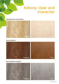 Suitable for interior and exterior applications that demand high performance and a refined look, Kebony is available in clear and character grade. After exposure to sun and rain the wood develops a natural silver-gray patina. Performance is maintained while beauty is enhanced.