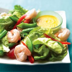 Shrimp and Snap-Pea Salad with Ginger Dressing Recipe | Martha Stewart