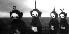 This is what the tellie tubbies where like before they had colour