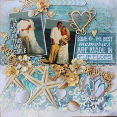 Kaisercraft 'Sandy Toes' - 'Flip Flops' Layout by Alison Bevis - Mixed Media.