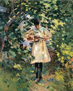 Theodore Robinson 1852-1896 | American impressionist/Realist painter
