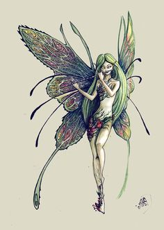 "thefae:Fairy Melody by Amalteyka ""Music is the art of thinking with sounds. Fantasy Creatures, Mythical Creatures, Fantasy Forest, Fantasy Art, Elves Fantasy, Fairy Dust, Fairy Tales, Fairy Land, Fairy Paintings"