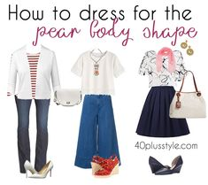 clothes for pear shaped women | 40plusstyle.com