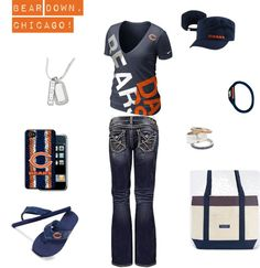 """Chicago Bears Outfit"" by ajudson on Polyvore"