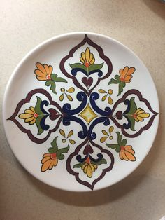 Painted Plates, Ceramic Plates, Plates On Wall, Decorative Plates, Dot Art Painting, Pottery Painting, Ceramic Painting, Mandala Drawing, Mandala Art