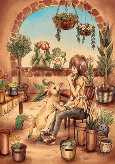 """If I had a flower shop in Italy, with all grass type Pokemon I can say I'd be thoroughly satisfied in life."""
