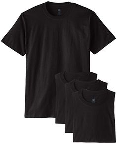 Hanes Men's ComfortSoft T-Shirt (Pack of 4), Black, Large Hanes http://www.amazon.com/dp/B00KBZOTKG/ref=cm_sw_r_pi_dp_9wWfxb0RFAG94