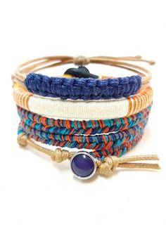 Get 15% OFF with code PINTASSY15   Boho Bracelet Stack - Set of 3 Colorful Woven Bracelets