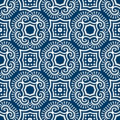 Chinese Indigo Tiles ~ Bian ~ Variation Jio fabric by peacoquettedesigns on Spoonflower - custom fabric