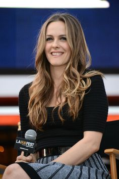 """Alicia Silverstone at the Film Independent's Pre-Festival Outdoor Screening Of """"Clueless."""" Hair by Kylee Rae Heath. Makeup by Jamie Greenberg."""