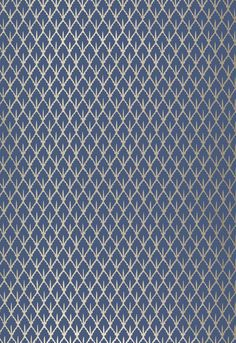 Wallpaper Schumacher Navy and Gold Gallerie B