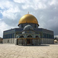Dome of the Rock and the Dome of the Chain at Jerusalem's Temple Mount https://ift.tt/2L7pnfp