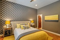 Fine Deco Chambre Adulte Gris Et Jaune that you must know, You?re in good company if you?re looking for Deco Chambre Adulte Gris Et Jaune Yellow Gray Bedroom, Grey Bedroom Design, Grey Bedroom Decor, Trendy Bedroom, Grey Yellow, Bedroom Designs, Colour Yellow, Diy Bedroom, Mustard Yellow