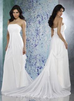 Wedding Dresses - $114.79 - Sheath/Column Strapless Court Train Chiffon Charmeuse Wedding Dress (00205001889)