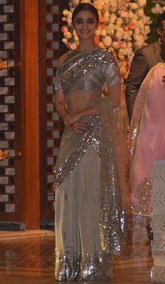 Alia Bhatt in a Manish Malhotra saree.