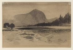 "Drawing, ""View of Corinne, Utah in June 1871"", 1871 Brush and black wash, graphite on cream paper; verso: graphite. Gift of Thomas Moran. 1917-17-6."