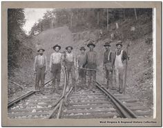 Section Crew at Montrose, W. Va. Date 1904 Subject Logging and Lumbering--Portraits--Group Railroads--Track--Maintenance and repair. Logging--West Virginia--Montrose. Source Gift of J. W. Sommers