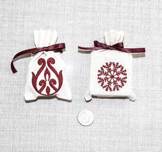 FREE SHIPPING  Embroidered Soap Gift Set Linen by TheSilknCotton