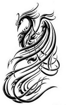 tattoo designs and tattoo fonts: feminine phoenix tattoos Tattoo Tribal, Tribal Phoenix Tattoo, Phoenix Bird Tattoos, Phoenix Tattoo Design, Tribal Tattoo Designs, Male Tattoo, Tribal Dragon Tattoos, Tattoo Mom, Sick Tattoo