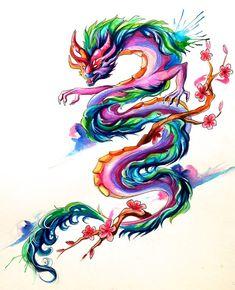 Asian Dragon Tattoo by Lucky978.deviantart.com on @deviantART