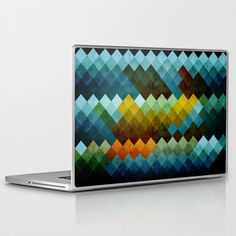 Abstract Cube BYG Laptop Skin by RobozCapoz - $25.00