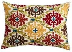 Embroidered Pillow, $29.95, Pier1