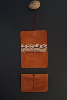 beige suede leather wallet
