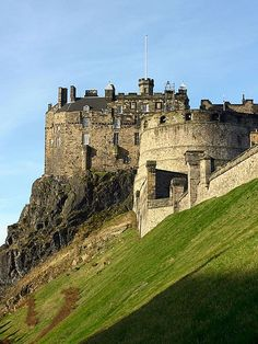 Edinburgh Castle, United Kingdom Who wants to roll down this hill?
