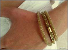 Golden eye Mesh tube bracelet   bridesmaid party net by MyERA4u