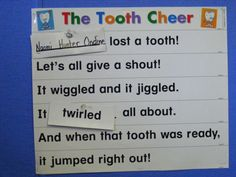 lost tooth cheer