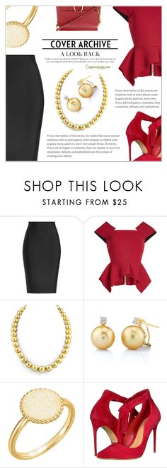 """Cover Archive: Pearls"" by applesofgoldjewelry ❤ liked on Polyvore featuring Roland Mouret, Schutz, Chloé and Apples of Gold"