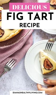 The most delicious Mascarpone Fig Tart. This fig tart is light and creamy with a slight sweetness topped with fresh figs. A delicious seasonal dessert| #figs #mascarpone #tart #pierecipe #dessertrecipe | #croatiafood Fig Recipes, Tart Recipes, Baking Recipes, Great Recipes, Dessert Recipes, Healthy Recipes, Desserts, Light Cheesecake, Fig Tart