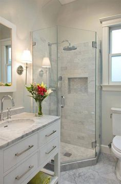 Impressive Tiny Restroom Remodel Ideas - A little bathroom remodel on a budget plan. These cheap bathroom remodel ideas for tiny restrooms are quick and also easy. Cheap Bathroom Remodel, Restroom Remodel, Cheap Bathrooms, Bathroom Renovations, Amazing Bathrooms, Small Bathrooms, Budget Bathroom, Bathroom Makeovers, Narrow Bathroom