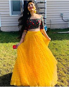 Sojitra Enterprise Women's Heavy Net Embroidered Semi Stitched yellow colour lehenga choli With Blouse Piece (Free Size)/ad/sponsored/yellow/indian/traditional/ridal/shaadi/mehndi/haldi dress/outfits Lehenga Gown, Party Wear Lehenga, Indian Lehenga, Party Wear Dresses, Net Lehenga, Indian Gowns Dresses, Indian Fashion Dresses, Indian Designer Outfits, Floral Skirt Outfits
