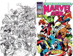 comic book coloring then and now