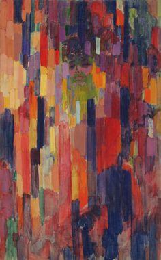 Frantisek Kupka, Madame Kupka among Verticals, 1910-1911