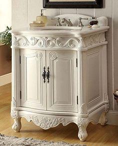 "27"" Antique White Petite Powder Hayman Bathroom sink vanity Model BC-2917W-AW-27 Chans Furniture http://www.amazon.com/dp/B00CC0GOOW/ref=cm_sw_r_pi_dp_iUwHwb18PSG6E"
